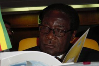 Robert Mugabe, President of Zimbabwe, OAU, Lusaka. (File Photo)