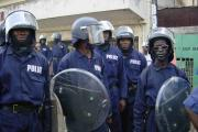 Riot police in Freetown (file photo).