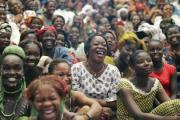 Women from all over Côte d'Ivoire gather to celebrate International Women's Day.