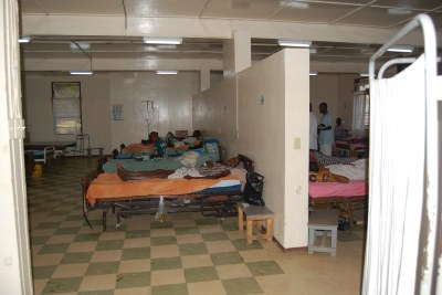 Patients being treated at a Liberia hospital. (file photo)