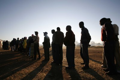 Election day in Harare in 2008.