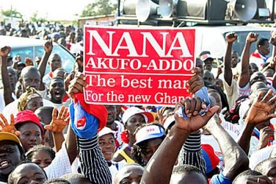 Akufo-Addo used Ghana's current economic woes as a main theme of his campaign.
