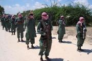 Somalia's Al-Shabaab drill in November 2008.