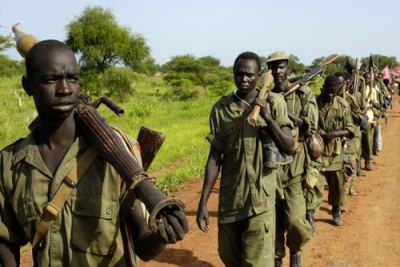 SPLA soldiers redeploy south from the Abyei area in line with the road map to resolve the Abyei crisis (file photo).