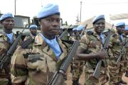 Peacekeepers (file photos).