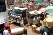 Ugandan vehicles loaded with goods to take to Juba and other Southern Sudan towns.