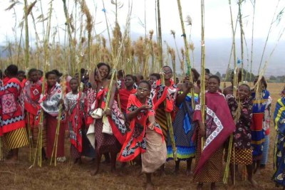The annual reed dance - where young women gather from across the country to pay homage to the queen mother - could be seen as an example of