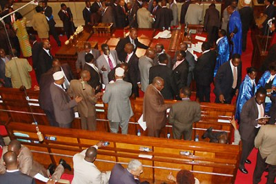 The Kenyan Parliament: The country's Internal Security Minister revealed the names of those under investigation to the House on Wednesday.