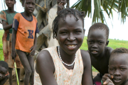 A Nuer woman living in a temporary settlement of displaced people in Western Ethiopia's Gambella region (file photo).