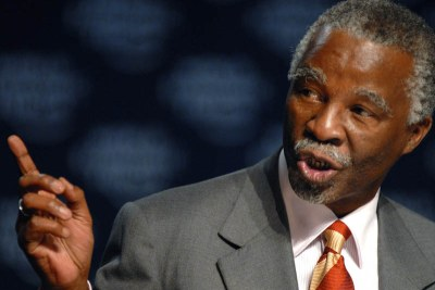 Former South African president, Thabo Mbeki, chair of the African Union High Level Implementation Panel on Sudan (AUHIP).