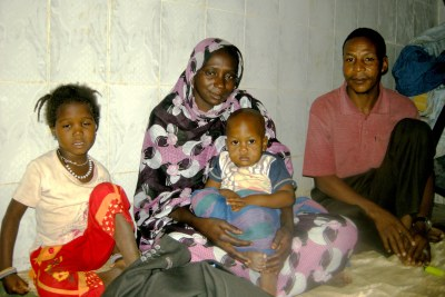 Former slave, Mattallah Ould M'Boirk, along with his family in Nouakchott (file photo).