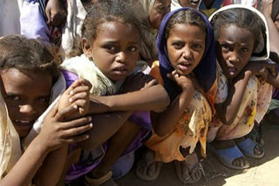 Young Eritrean refugees in Sudan. Many Eritreans arriving in Egypt come via Sudan.