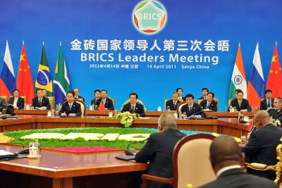 The fourth BRICS meeting in India.