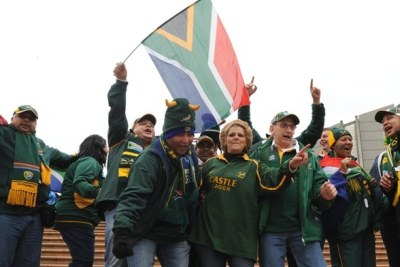 Springbok fans: The matter of cheering after singing the anthem is so serious in fact, it will form part of the discussion at the party's National General Council in Johannesburg next month. (file photo).