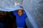 Long-lasting insecticide-treated bed nets.