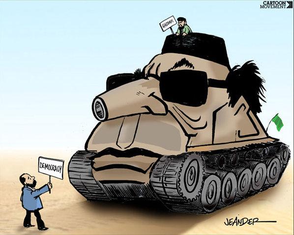 Gaddafi - Food for cartoonists