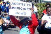 Nigerian citizens protest for health facilities.