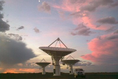South Africa is currently building a mid-frequency demonstrator radio telescope alongside the proposed SKA core site.