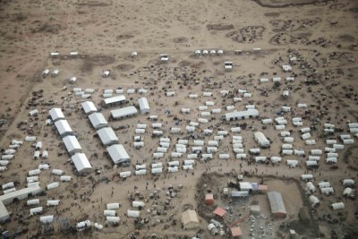 Transit centre of a refugee camp