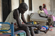 Victims of ethnic violence receiving treatment at a hospital in Akobo, Sudan (file photo).