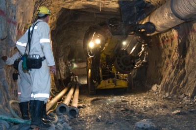 Drilling underground: Operations at the company's mines West Wits, Kopanang in Carletonville, and the Vaal River regions, near Orkney, came to a standstill