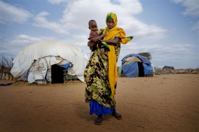 A woman in the world's largest refugee camp, Dadaab in Kenya.