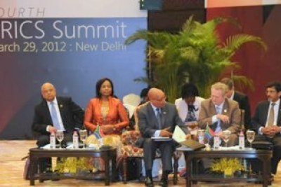 President Zuma and his delegation at the Closed Plenary Session of the Fourth BRICS Summit.