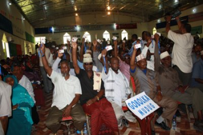 Constitutional convention in Puntland State's capital, Garowe.