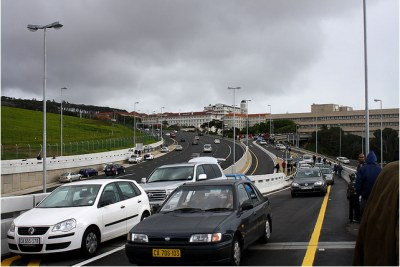 Traffic in Cape Town.