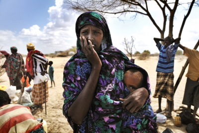 Mother and child at Dadaab refugee camp.