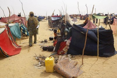 Malian refugees near the country's border with Niger.