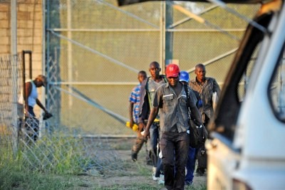 A group migrants from Zimbabwe (file photo): The Chairperson of the SAHRC has approached the Department of Home Affairs to bring this matter to their attention.