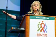 U.S. Secretary of State Hilary Clinton addresses the XIX International Aids Conference in July, 2012: Secretary Clinton marked World Aids Day 2012 by unveiling a blueprint for the creation of an Aids-free generation.