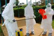 Health workers preparing to handle Ebola patients: There is no treatment or vaccine against Ebola, which is transmitted by close personal contact and, depending on the strain, can kill up to 90% of those who contract the virus.