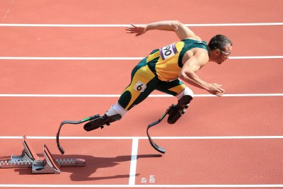 Oscar Pistorius won an individual gold, defending his Paralympic 400-meters title in the last competition in the Olympic Stadium