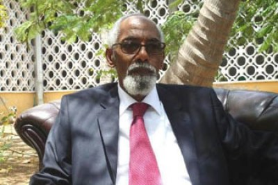 Somali speaker of Parliament, Prof.Mohamed Osman Jawari.