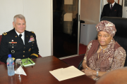 President Sirleaf and head of AFRICOM, General Carter Ham