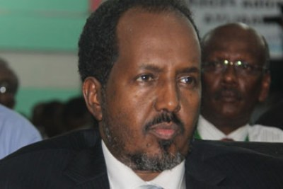 Newly elected president, Hassan Sheikh Mohamud.