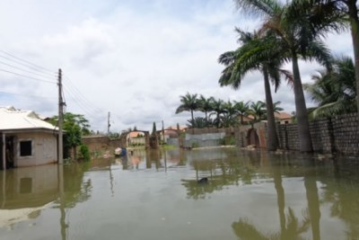 Homes are affected by floods in Kaduna.