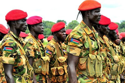 Sudanese soldiers ready for combat: Sudan People's Liberation Army sent 500 soldiers to join the African Union task force.