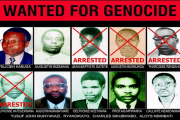 This wanted poster shows Protais Mpiranya - bottom row, second from right - a former Rwandan army official, who is accused of taking part in the 1994 Genocide against the Tutsis. He is believed to be hiding in Zimbabwe, where police are searching for him.