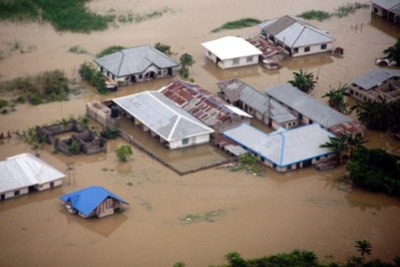 Submerged houses in Isoko area of Delta state