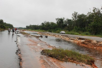 File photo: The rains have caused widespread damage to roads leaving some areas impassable.