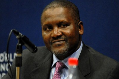 President and Chief Executive Officer of Dangote Group of Companies Aliko Dangote