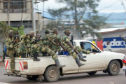 M23 rebel group entering the town of Goma.