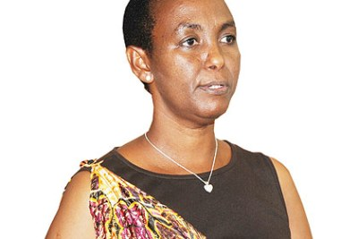 The late Minister of Gender and Family Promotion, Aloisea Inyumba (file photo).