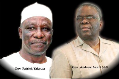 Patrick Yakowa, Governor of Kaduna State and General Andrew Azazi