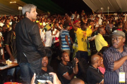 Supporters of the president of the ruling party, Jacob Zuma.