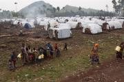 A camp for displaced people.