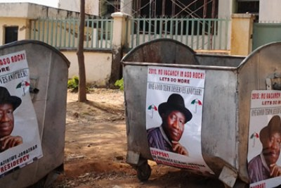 President Goodluck Jonathan campaign posters